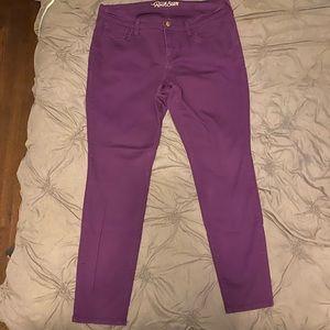Purple old navy straight/skinny leg pants